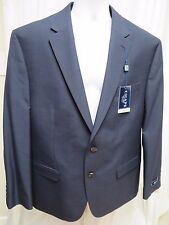 NEW NWT mens CHAPS sport coat blazer suit jacket 46R blue shepardscheck $220