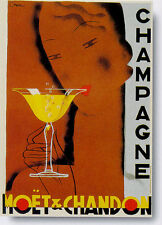 """TARGA VINTAGE """"CHAMPAGNE MOET & CHANDON"""" Pubblicità, Advertising, Poster, Plate"""