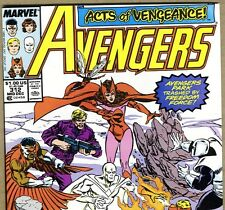 The AVENGERS #312 with Captain America & Falcon from Dec 1989 in VF+ con. NS