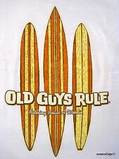 Three Boards,Old Guys Rule,Surf Tee,Large,White,Nothing Beats A Woodie,Longboard