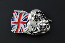 GRIM REAPER UNION FLAG BELT BUCKLE SKULL
