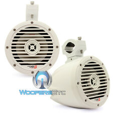 "CERWIN VEGA VMC65W WHITE GLOSS 6.5"" 2-WAY TWEETER MARINE BOAT TOWER SPEAKERS NEW"