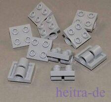 LEGO - 10 x Platte 2x2 hellgrau mit 2 x Lochhülse / Lochhülsen 2817 NEUWARE (e15