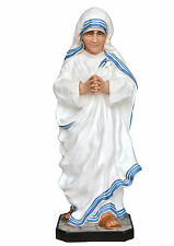 Saint Mother Teresa of Calcutta resin statue cm. 100 with glass eyes