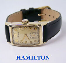 Vintage 14k HAMILTON TURNER Winding Watch c.1940s Cal 982* EXLNT* Tested* Rare