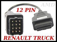 IRISBUS diagnostic cable 12 PIN lead  AUTOCOM, DELPHI RENAULT BUS OBD TEST CABLE