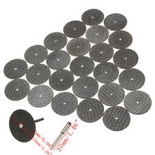 25Pcs 32mm Resin Cutting Wheel Cut-off Discs Kit+1pc Mandrel For Rotary Tool New