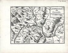 Antique maps, gouvernement de grenoble