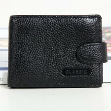 Small Genuine Leather Bifold Clutch Wallet ID Card Holder Coin Pocket Mens Purse