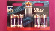 4 piles neuves BABY LR14  - 1,5V  Ultra alcaline