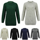 Womens Long Sleeve CHUNKY DIAMOND CABLE KNITTED Ladies Jumper Sweater Knit Top