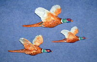 SUPERB BESWICK SET OF 3 PHEASANT WALL PLAQUES, MODEL Nos 661/1, 661/2, 661/3