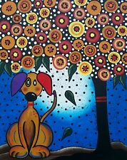 NEEDLEPOINT Canvas 14 or 18 count_I Need A Home _Lori Everett, whimsical,Dog Art