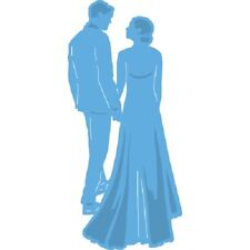 Marianne Creatables Die Cutting Stencil - Wedding Couple -Bride & Groom - LR0427