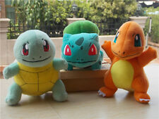 New 2016 TOMY Pokemon Bulbasaur Squirtle Charmander Plush Stuffed Toy Set of 3
