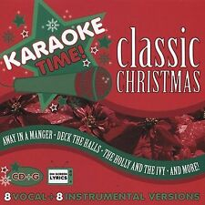 NEW, SEALED, KARAOKE TIME!!!!   CLASSIC CHRISTMAS!!!   8 VOCAL & 8 INSTRUMENTAL