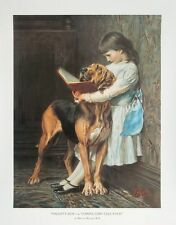 Naughty Boy - Briton Riviere -71x56cms, vintage dog poster, RA Artist prints