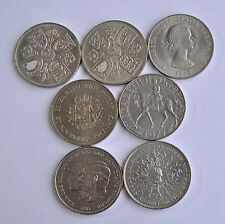 RUN 7 CROWNS 1953, 1960, 1965, 1972, 1977, 1980, 1981 BRITISH COINS UNC