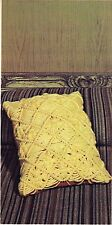 1970s Diagonal Yarn Pillow Pattern - Craft Book:# Z30 Macrame the Easy Way