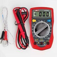 UNI-T UT33C Digital Multimeter Handheld AC DC Volt Ohm Temperature Meter Tester