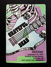 Grateful Dead Backstage Pass Puzzle Piece DEAD Guitar Skeleton 9/19/1990 MSG NY