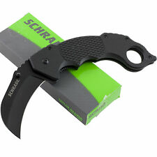 Schrade Karambit Linerlock Folding Pocket Knife SCH110 Black G-10 Handles
