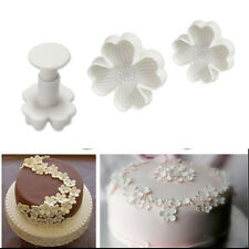 3Pcs Lucky Clover Fondant Cake Plunger Mold Cutter Sugarcraft Pastry Mold Tools