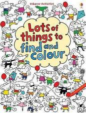 Lots of Things to Find and Colour book Usborne brand new summer holiday activity