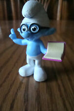 2013 BRAINY Smurf McDonald's Happy Meal Toy Smurf 2 Movie Toy #5 CAKE TOPPER