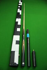 10.41mm Tip 1 piece 12 Faces Blood Wood+Black Ebony Handmade Snooker Cue Set