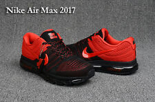 Nike AIR MAX 2017 Men's Running Shoes New Style Black and Red Size 11