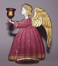 Engel Kerzenleuchter Kerzenhalter Jugendstil / ART DECO Zinn Handbemalt