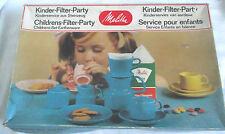 VINTAGE / RETRO 15 PIECE  MELITTA CHILDS EARTHENWARE FILTER PARTY SET / RARE