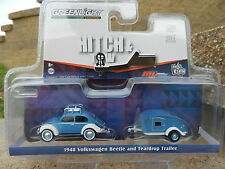 1:64 GreenLight *HITCH & TOW* 1948 Volkswagen VW Beetle Teardrop Camper