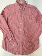BD Baggies Medium M Mens shirt red and white striped button front shirt