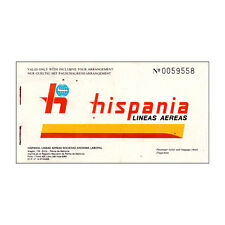 Hispania Lineas Aereas - Airline Ticket - 1986