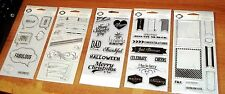lot 5 CLEAR ACRYLIC  FISKARS STAMPS ~Holidays,Frame,Pennant,Banners wks CTMH blk