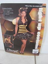 Dreamgirl Light up Miss Be de-Light-ful Bee Costume missing wings age 14+