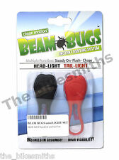 Beam Bugs LED Bike Headlight & Tail Light Frog Silicon Wraparound Front Rear Set