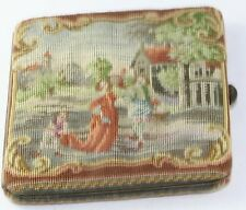 AUSTRIAN ANTIQUE 935 SILVER PETIT POINT CARD CASE NO DAMAGE