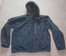 "AIGLE MENS NAVY WATERPROOF HOODED JACKET - SIZE UK XXL - 46/48"" CHEST"