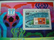 FUSSBALL  WM Weltmeisterschaft Argentinien 1978 Block HAUTE VOLTA elfenbeinküste