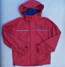 VINEYARD VINES Waterproof Rain Jacket Mens Small Red Stowaway Hood Anorak Coat