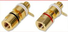 A Set of 8 x Heavy Duty 24K Gold-Plated Amplifier Terminals / Binding Posts