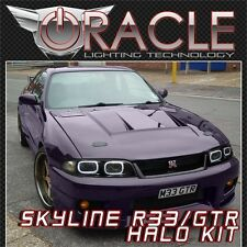 ORACLE For  Skyline JDM R33/GTS/GTR WHITE LED Headlight Halo Angel Eyes