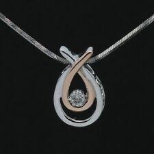 Kay Jewelers Sterling & 10K Rose Gold Love's Embrace Diamond Pendant Necklace