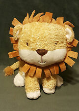 "LARRY THE LION PLUSH GOLDEN TAN & WHITE APPROX 11in- Only at Hallmark ""CUTE"""