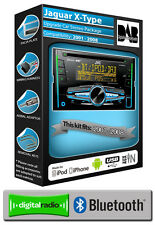 Jaguar X-Type DAB radio, JVC car stereo CD USB AUX player, Bluetooth handsfree