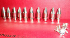 "10 x 1"" Bullet Nickel Plate Metal SPIKE STUDS Leather BIKER BOOTS BELT JACKET"