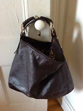 Gucci Guccissima Leather Large Brown Horsebit Hobo Bag